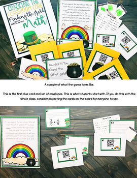 Cracking the Classroom Code™ 4th Grade St. Patrick's Day Math Escape Room Game