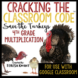 4th Grade Thanksgiving Math Multiplication Escape Room | D