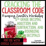 Cracking the Classroom Code™ 5th Grade Math Christmas Escape Room