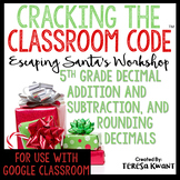 Cracking the Classroom Code™ 5th Grade Math Christmas Escape Room