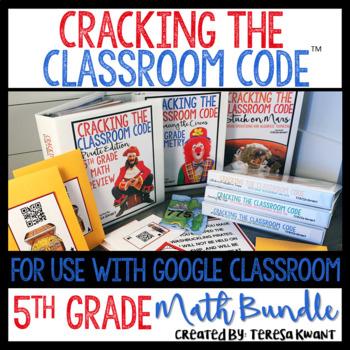 Cracking the Classroom Code™ 5th Grade Math Bundle Escape Room Games