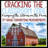 Cracking the Classroom Code™ 5th Grade Math Escape Room Converting Measurements