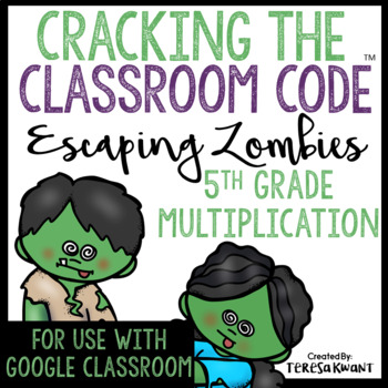 Cracking the Classroom Code™ 5th Grade Halloween Multiplication Math Escape Room