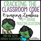 Cracking the Classroom Code™ 5th Grade Halloween Multiplication Math Escape Room