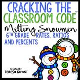 Cracking the Classroom Code® 6th Grade Math Escape Room Rates, Ratios, Percents