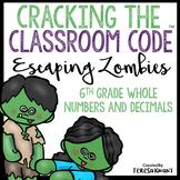 Halloween Escape Room 6th Grade Math Cracking the Classroom Code™