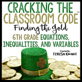 Cracking the Classroom Code® 6th Grade Math St. Patrick's Day Escape Room