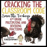 Cracking the Classroom Code® 6th Grade Math Thanksgiving Escape Room