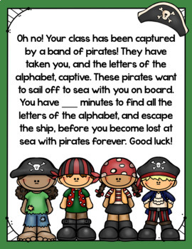 Cracking the Classroom Code™ Alphabet Review Escape Room
