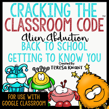 Back to School Escape Room Cracking the Classroom Code™ Getting to Know You Game