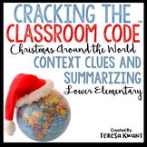 Cracking the Classroom Code™ Christmas Around the World Escape Room Lower Grades