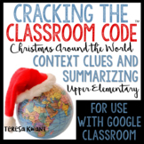 Cracking the Classroom Code™ Christmas Around the World Escape Room Upper Grades