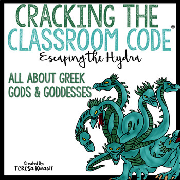 Cracking the Classroom Code® Escape Room Ancient Greek Gods and Goddesses