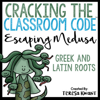 Cracking the Classroom Code™ Greek and Latin Roots Escape Room Grades 3-5