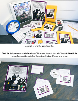 Cracking the Classroom Code™ Halloween Parts of Speech Escape Room Game