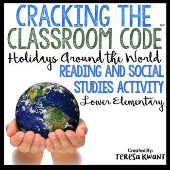 Cracking the Classroom Code™ Holidays Around the World Escape Room Grades 1-2