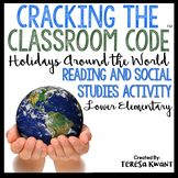 Cracking the Classroom Code™ Holidays Around the World Escape Room Grades 1-2