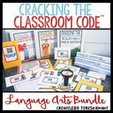 Cracking the Classroom Code™ Language Arts Bundle Escape Room 3-5 Grade