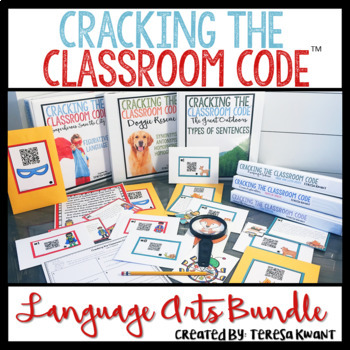 Cracking the Classroom Code™ Language Arts Bundle Escape Room 3-5 Grade