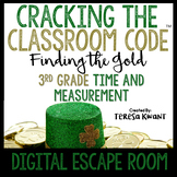 Cracking the Classroom Code® Math Digital Escape Room St. Patrick's Day Grade 3