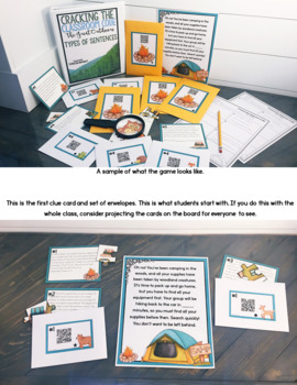 Cracking the Classroom Code™ Types of Sentences Escape Room Grades 3-5