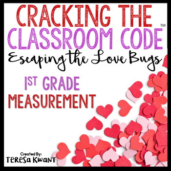 Cracking the Classroom Code™ Valentine's Day 1st Grade Math Escape Room Game