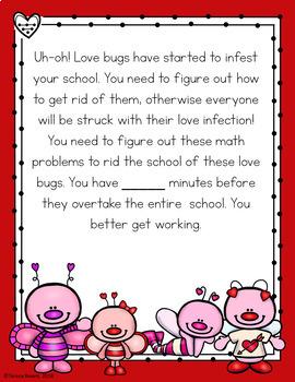 Cracking the Classroom Code™ Valentine's Day 4th Grade Math Escape Room