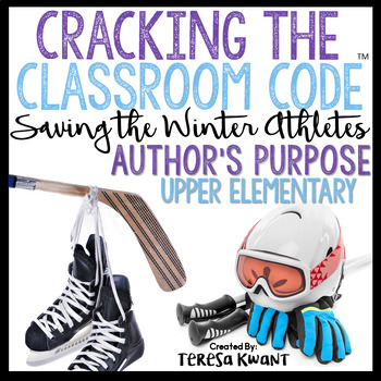 Cracking the Classroom Code™ Winter Sports Escape Room Upper Elementary