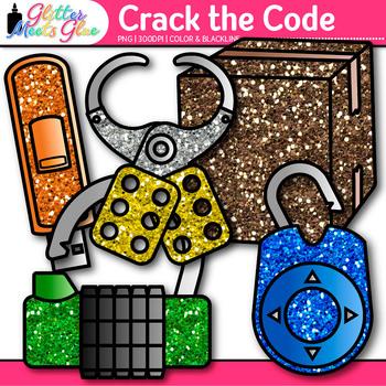 Crack the Code Clip Art {Design Classroom Escape Games for Critical Thinking}