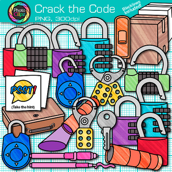 Crack the Code Clip Art {Design Classroom Escape Games for Critical Thinking}