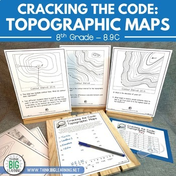 Cracking the Code: Topographic Maps STAAR Review Activity