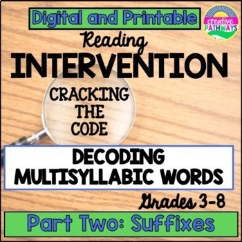 Reading Intervention for Upper Grade:Decoding Multisyllabic Words, Suffixes