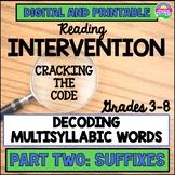 Reading Intervention for Upper Grade:Decoding Multisyllabi