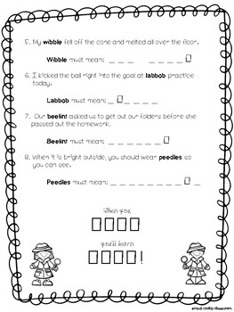 Context Clues FREEBIE Worksheet