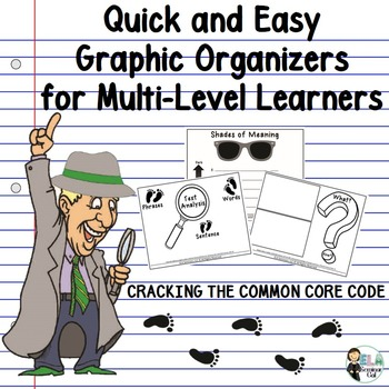 Cracking the common core code graphic organizers for multi level cracking the common core code graphic organizers for multi level learners fandeluxe Images