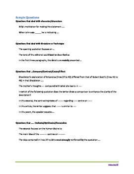 Cracking the English Language Arts 9 Achievement Code Reading Comprehension