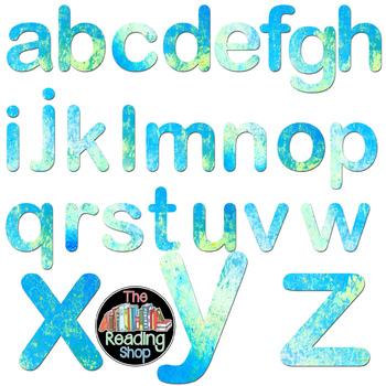 Crackle Paint Alphabet - Blue, Yellow, & Green