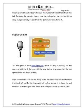Create a Fun Tennis Game using Code in Scratch