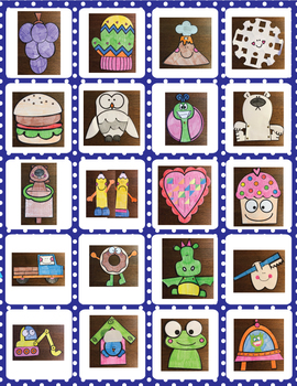 Craft Activities Pack #5 - One Page Print & Go Crafts + Writing Papers