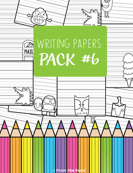Craft Activities Pack #6 - One Page Print & Go Crafts + Writing Papers