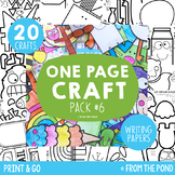 Craft Activities Pack #6 - One Page Print & Go Crafts + Wr