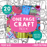 Craft Activities {One Page Craft Pack #1 - Print & Go + Writing Papers}