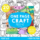 Craft Bundle {One Page Craft Pack #2 - Print & Go Crafts +