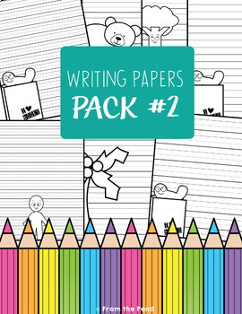 Craft Bundle {One Page Craft Pack #2 - Print & Go Crafts + Writing Papers}