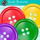 Craft Button Clip Art {Rainbow Manipulatives for Math Center Activities}