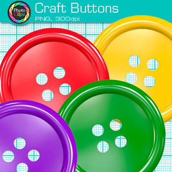 Craft Button Clip Art {Rainbow Manipulatives for Math Center Activities}