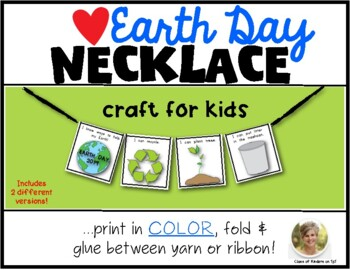 Earth Day Craft Necklace