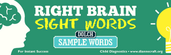 FREE Downloadable Craft Right Brain DOLCH Sight Word Cards