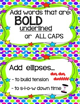 Craft Moves for Narrative Writing Anchor Chart Cards