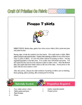 Craft Of Printing On Fabric Lesson